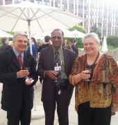 Umvoto MD Rowena Hay with fellow judges Prof. Murat Balamir and Franklin McDonald