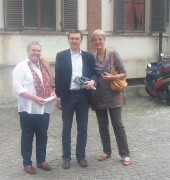 Caption: Umvoto MD Rowena Hay with Dr Marco Giardino and Elana Ochse