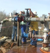 Umvoto Africa amended wellhead following installation of pumping equipment