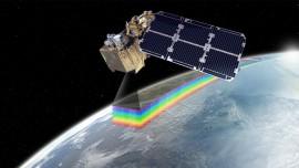 Mock-up image of satellite Sentinel-2a platform in space